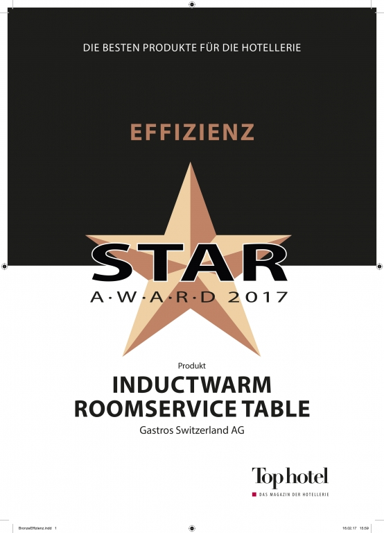 Top hotel award for inductive room service table