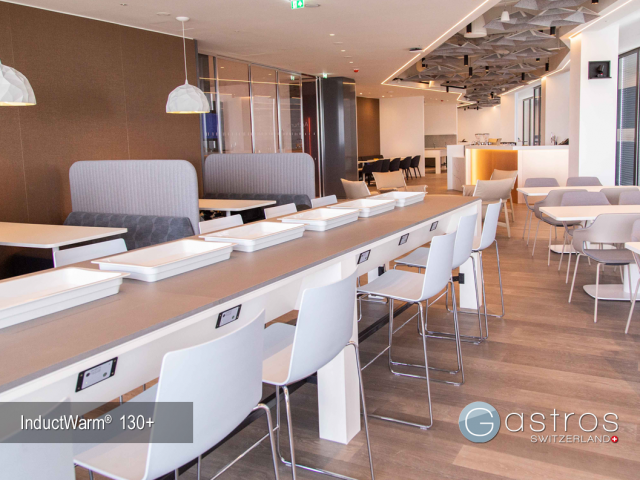 Mitarbeiterrestaurant Tisch mit Induktionstechnik