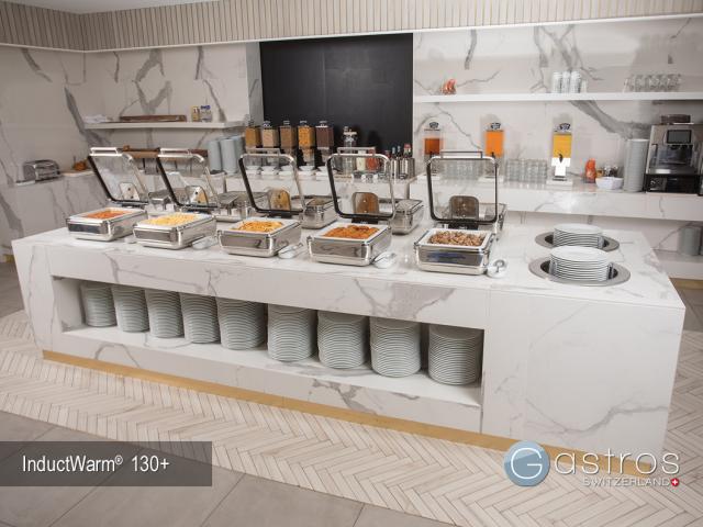 Fruestuecksbuffet mit Induktionstechnik